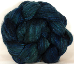 Batt in a Braid #7-Maelstrom- (4.9 oz.)Polwarth/ Manx / Mulberry silk/ Firestar (30/30/30/10) - Inglenook Fibers