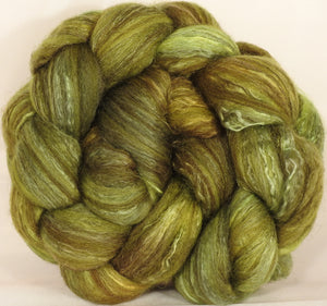 Batt in a Braid #7-Jojoba- (5 oz.)Polwarth/ Manx / Mulberry silk/ Firestar (30/30/30/10) - Inglenook Fibers
