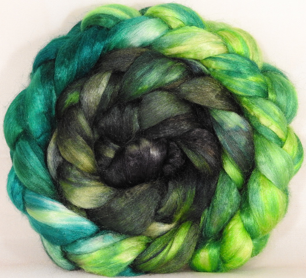 100 % Tussah Silk Top-Brussel Sprout- 3.5 oz. - Inglenook Fibers