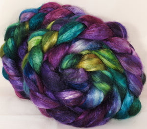 100 % Tussah Silk Top- Mary, Mary Quite Contrary- 3.4 oz. - Inglenook Fibers