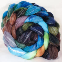 Hand dyed top for spinning - Selkie - Targhee/silk/ bamboo ( 80/10/10) - Inglenook Fibers