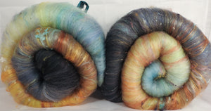 Sea Smoke - Roly-Poly Batts- 30% Nash Island fleece, merino, silk, bamboo, silk noil (angelina in sparkle batts)