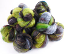 Non-sparkle Sticklebatts-  Norway Maple (4 oz) - 35% Cormo-Jacob x Fleece; merino, silk, bamboo, silk noil
