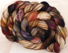 Hand dyed top for spinning -Scholarly- (5 oz) 18.5 mic merino/ camel/ brown alpaca/ mulberry silk/ (40/20/20/20) - Inglenook Fibers