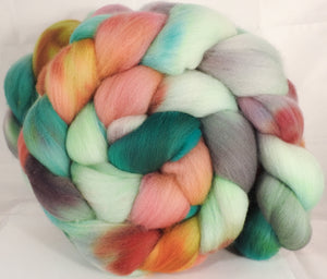 Hand dyed top for spinning -Land of Nod-(5.3 oz.) Organic polwarth - Inglenook Fibers