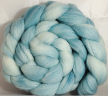 Hand dyed top for spinning - Dewdrop - (5.35 oz.) Targhee/silk/ bamboo ( 80/10/10)