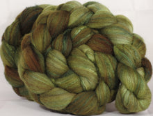 Mixed UK Bfl/ Tussah Silk  (75/25) - Wasabi - (5 oz.) - Inglenook Fibers