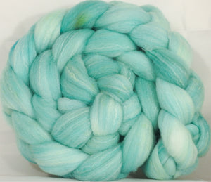 Hand dyed top for spinning - Celadon - (5.3 oz.) Targhee/silk/ bamboo ( 80/10/10) - Inglenook Fibers