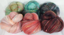 Apple Blossoms - Sticklebatts - 30% Bond fleece, merino, silk, rambouillet, bamboo, silk noil - Inglenook Fibers