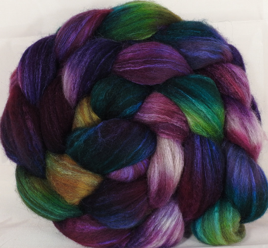 Mixed UK Bfl/ Tussah Silk  (75/25) -Mary, Mary , Quite Contrary - 6.2 oz. - Inglenook Fibers