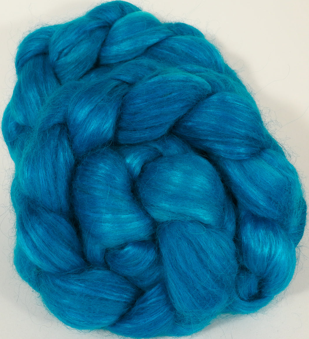 Hand-dyed wensleydale/ mulberry silk roving ( 65/35) -Jersey - Inglenook Fibers