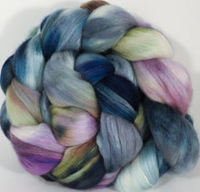 Batt in a Braid #25- Oysters - 5.1 oz. - De-haired Llama/ Polwarth/ Mulberry Silk (33/33/33 ) - Inglenook Fibers