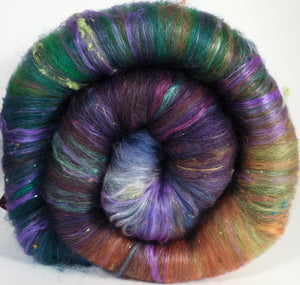 Jabberwocky - Roly Poly batts- 35% Cotswold fleece, merino, rambouillet silk, bamboo, silk noil (angelina in the sparkle batts) - Inglenook Fibers