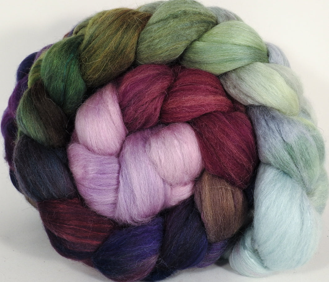 Batt in a Braid #25- Cabbages & Kings - De-haired Llama/ Polwarth/ Mulberry Silk (33/33/33 )