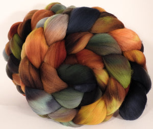 Hand dyed top for spinning -The Walrus- (5.7 oz.) Organic polwarth - Inglenook Fibers