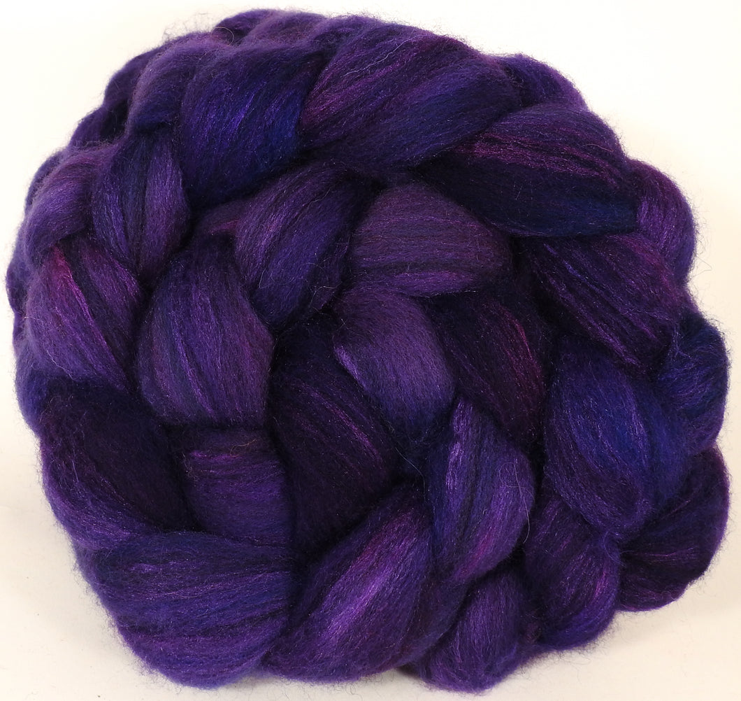 Mixed UK Bfl/ Tussah Silk  ( 75/25) -Gentian-  5.4 oz. - Inglenook Fibers