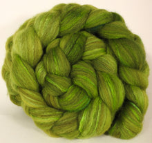 Mixed UK Bfl/ Tussah Silk  ( 75/25) - Tree Frog-  5.15 oz. - Inglenook Fibers