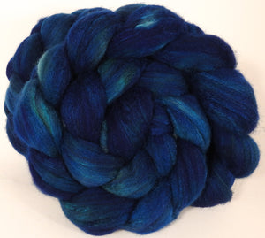 Mixed UK Bfl/ Tussah Silk  ( 75/25) -Loch Ness - Inglenook Fibers