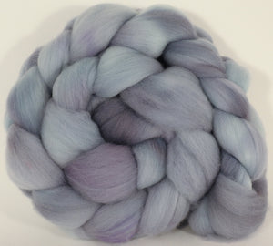 Hand dyed top for spinning -Mithril - (5.6 oz.) Organic Polwarth - Inglenook Fibers