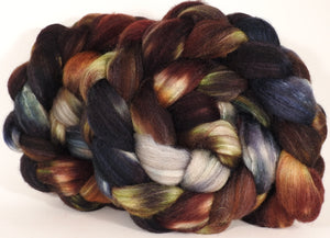Mixed UK Bfl/ Tussah Silk  (75/25) - The Walrus -  5 oz. - Inglenook Fibers