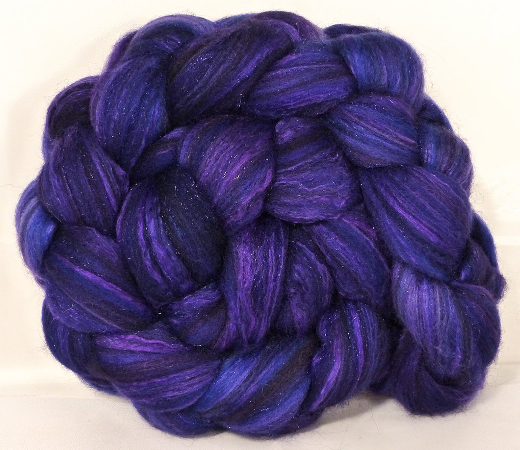 Batt in a Braid #7 -Primrose Purple-(5 oz.)Polwarth/ Manx / Mulberry silk/ Firestar (30/30/30/10) - Inglenook Fibers
