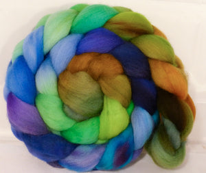 Organic Polwarth Roving (Top) -Water Pixie - 4.9 oz.