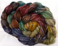 Batt in a Braid #2 -Toadstools -(5 oz.)Polwarth/ Manx / Black tussah silk/ tencel (40/20/20/20)