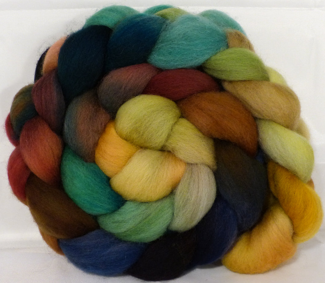 Organic Polwarth Roving (Top) -Toadstools - 4.7 oz. - Inglenook Fibers