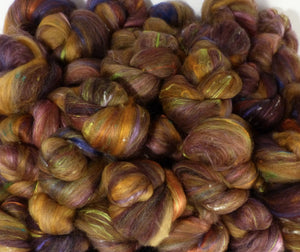 March Hare - Sticklebatts- YAK, merino, alpaca, silk, bfl, bamboo, silk noil - Inglenook Fibers