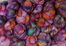RESERVED for the Second lottery  - Alice - Looking Glass Sticklebatts-( 3.9 oz. ) 30% Fleece, merino, silk, rambo, bamboo, silk noil, angelina - Inglenook Fibers