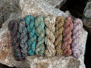 Mica - Superfine Merino/ Manx Loaghtan / Tweed Blend/ Silk  ( 40/25/25/10 ) - Inglenook Fibers