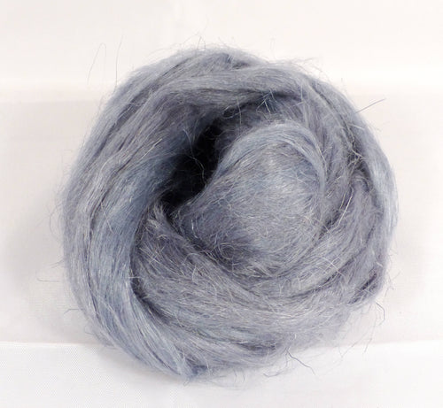 100% Dyed Flax combed top - Lead - (2 oz.)