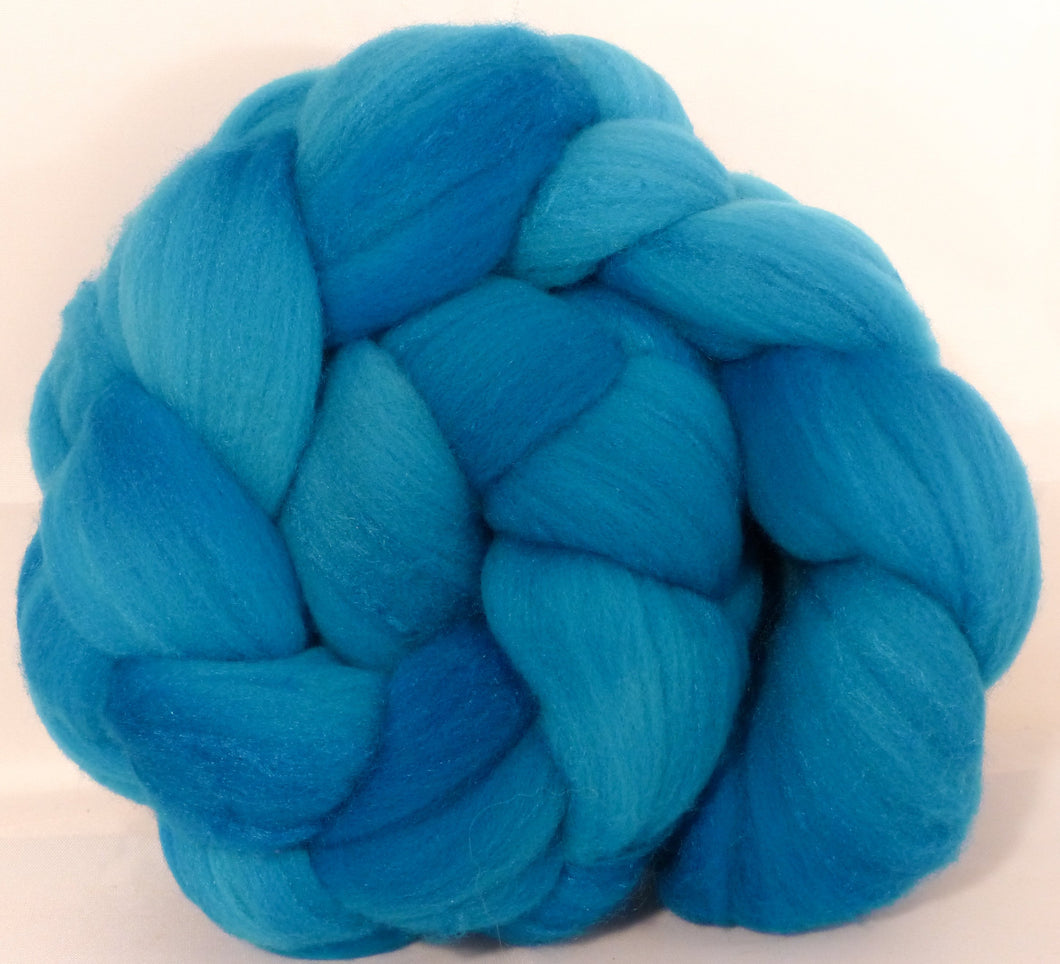 Hand dyed top for spinning -Capri (5.1 oz.)Rambouillet /tussah silk (75/25)
