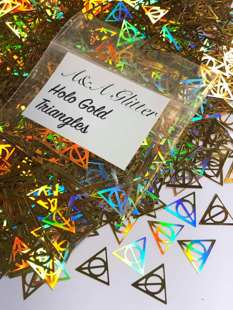 Holo Gold Triangles - A&A Glitter