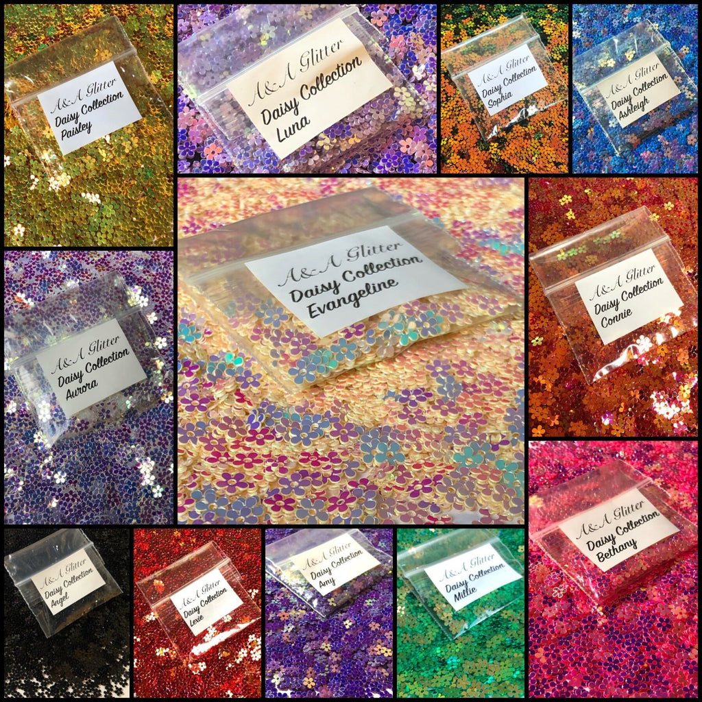 Daisy collection - set of 12 - A&A Glitter