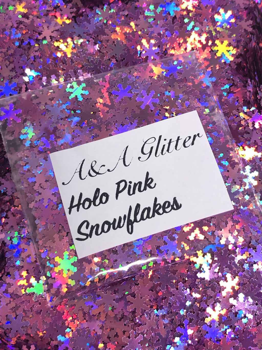 Holo Pink - Snowflakes