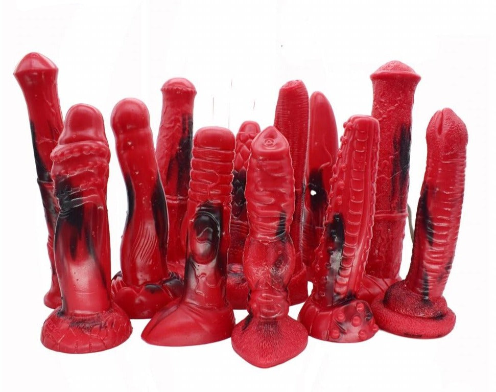 Colorful Red and Black Animal Dildos, 13 Types - Own Pleasures