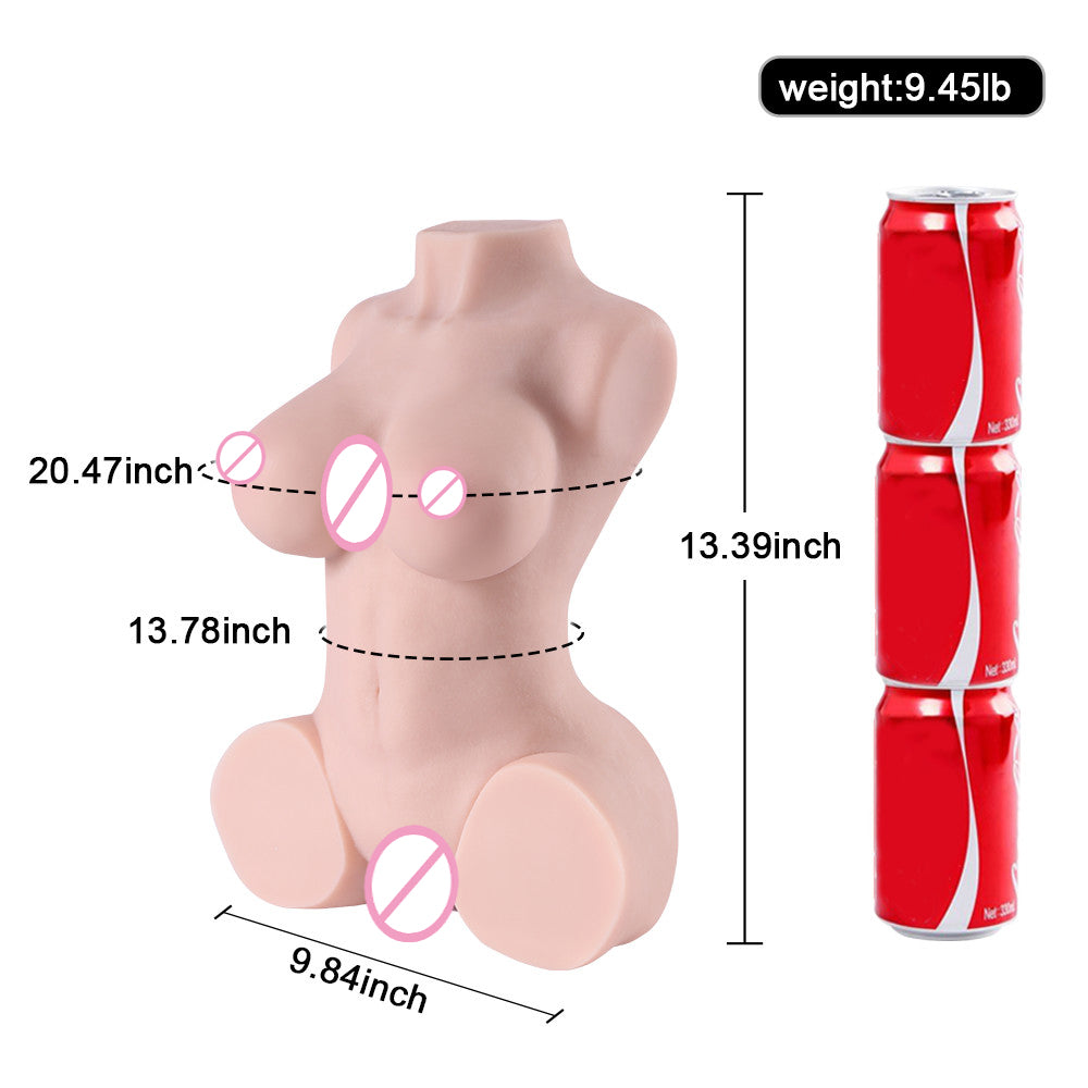 4.3kg Realistic 3D Half Body Sex Doll - Own Pleasures