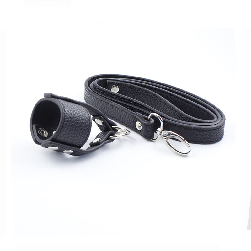 Ball Stretcher with Chain CBT Leash - Own Pleasures