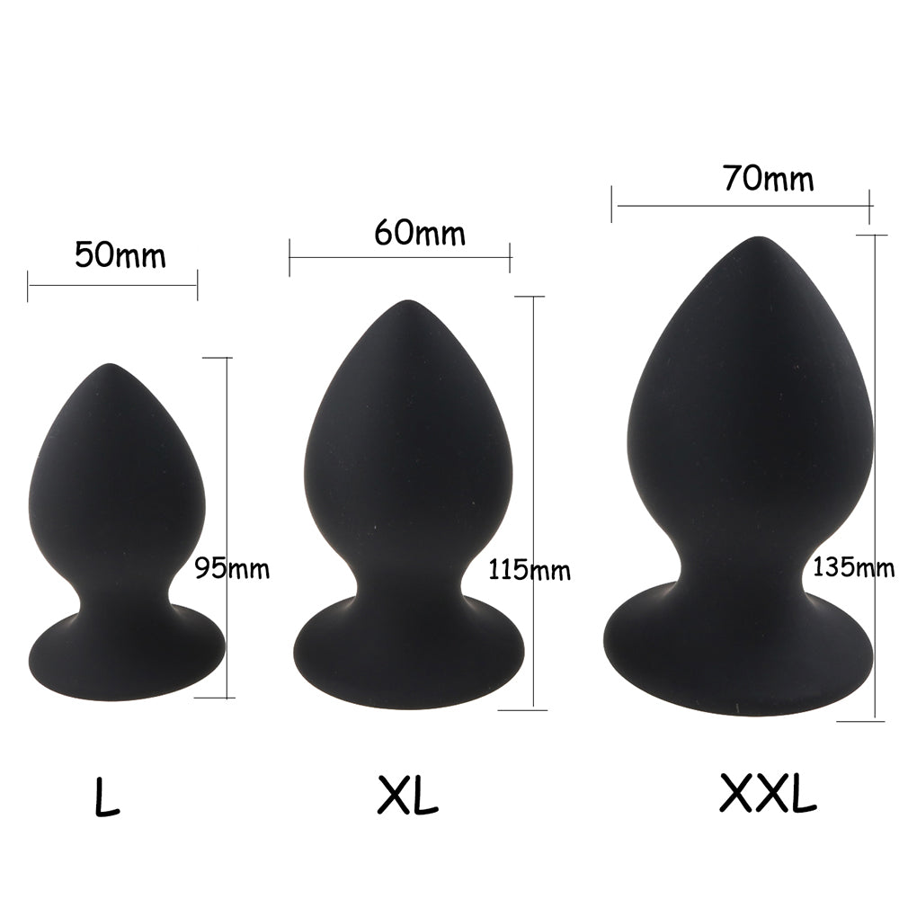 L to XXL Silicone Anal Plug - Own Pleasures