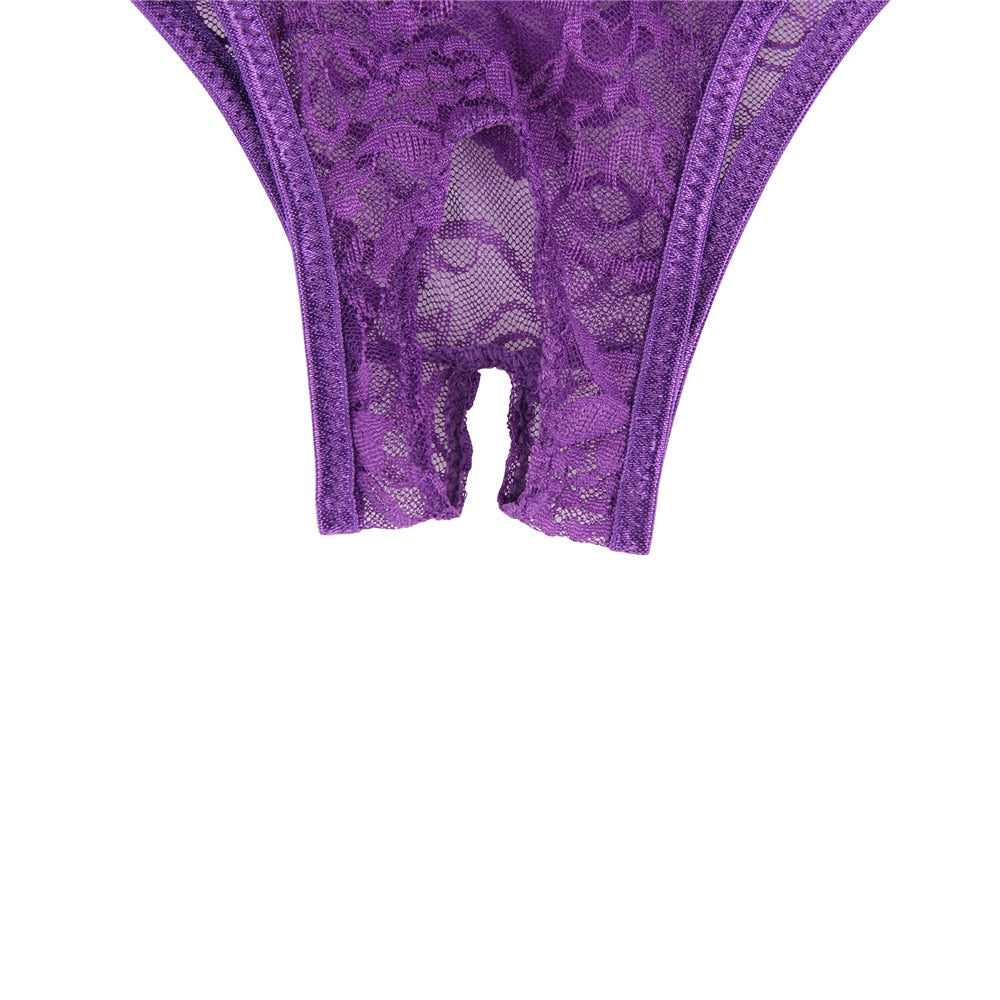 Up to 6XL Sexy Crotchless Lace Panties - Own Pleasures