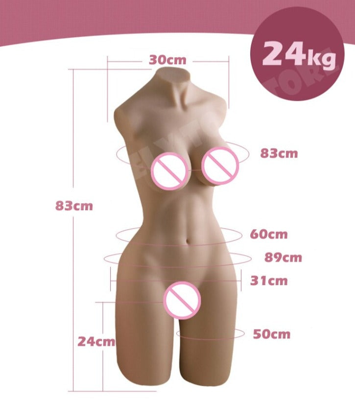 3D Realistic Half Body Silicone Sex Doll - Own Pleasures