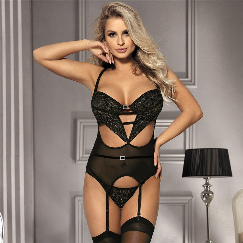 Up to 5XL Sexy Dessous With Garter Sexy Underwear - Own Pleasures