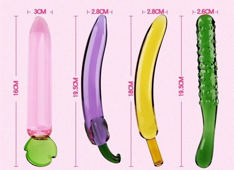 Fruit Crystal Anal Glass Dildos, 4 Variants - Own Pleasures