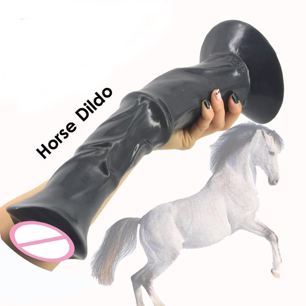 13.8 Inches Huge Animal Horse Dildo, 3 Colors - Own Pleasures