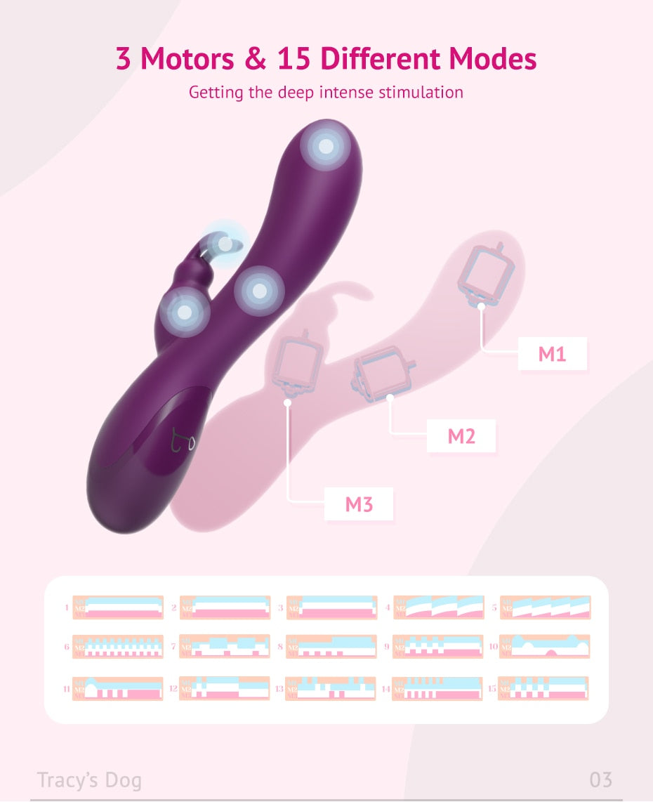 Deep Penetration Rabbit Vibrator for G Spot and A Spot Stimulation - Own Pleasures
