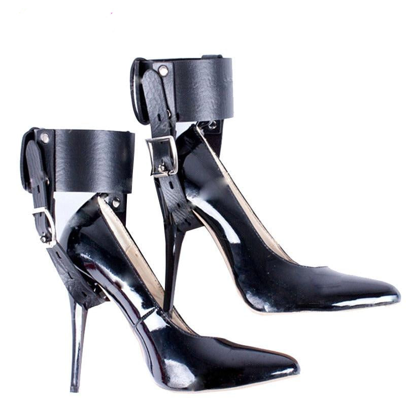 Leather High Heels Shoes Restraints