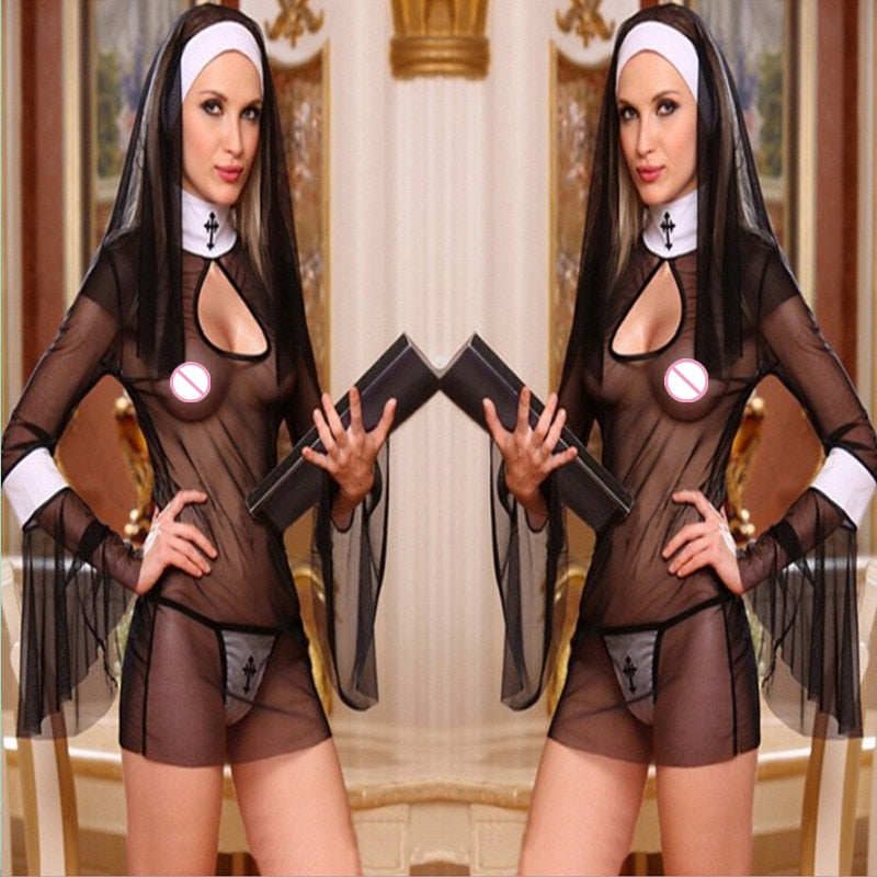 Women Sexy Nun Cosplay - Own Pleasures