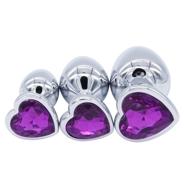 3Pcs Anal Crystal Plugs - Own Pleasures