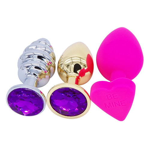 Stainless Steel Butt Plug Set, 15 Types - Own Pleasures